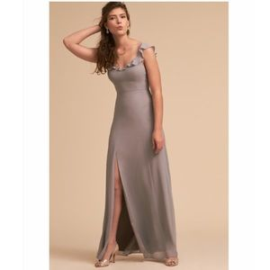 Anthropologie BHLDN Diana Ruffled Maxi Dress XS